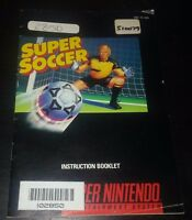 Super Soccer Instruction Booklet Manual ONLY Super Nintendo SNES