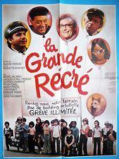 Affiche 120x160cm LA GRANDE RÉCRÉ (1976) Galabru, Paul Préboist, Chamarat TBE #