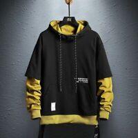 Mens Hoodie Sweatshirt Pullover Hoodies Streetwear Casual Fashion