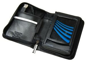 Castello Soft Italian Leather Portable Ext Hard Drive Zip Holder w/ Belt Clip
