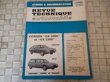 REVUE TECHNIQUE CITROEN CX 2000 ET CX 2200