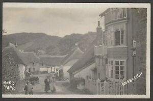 Postcard Inner Hope nr Salcombe Devon early village RP by Rossleigh