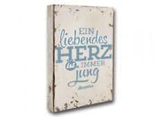 """Holzbild """"Liebendes Herz"""""""
