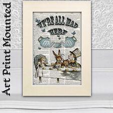 Mad Tea Party Alice nel paese delle meraviglie e Mad Hatter Dizionario di arte Foto