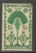 Madagascar (French) #252 (A16) VF MINT LH - 1943 5fr Traveler's Tree
