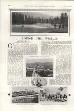 1903 Latest German Battleship Braunschweig Germania Yard