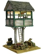 HO HOn3 Custom Built Weathered RR Crossing Gate Tower Scratch Building Diorama