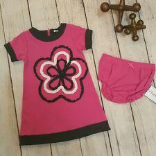 Hartstrings 24 mo. Pink Gray Floral Knit Tunic Dress & Bloomer Matching Set
