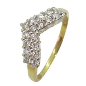 18ct Yellow and White Gold 0.50ct Diamond Fancy Wishbone Wedding Band Ring