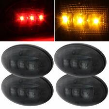 For 99-14 Ford F-Series Dually Fender Smoked LED Lights Marker Running & Parking