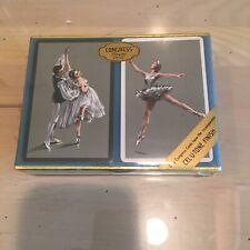 Sealed New Vintage Congress Playing Cards Cel-U-Tone Finish Ballerina- RARE