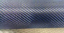 Tissu CARBONE-KEVLAR BLEU 200g/m². Pour stratification avec les résines époxy.