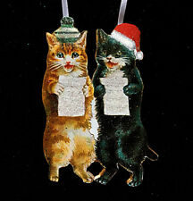 Singing Cats Handcrafted Wooden Christmas Ornament Music Teacher Gift Choir