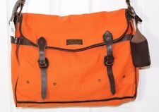 New! - Polo - Ralph Lauren - Messenger Bag - Canvas - Leather