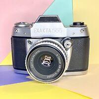Exakta 500 Vintage 35mm SLR Camera & 50mm Lens Film Tested! Working Order VGC