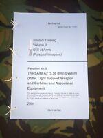 L85A2 SA80A2 H&K BRITISH ARMY TRAINING PAMPHLET IRAQ AFGHANISTAN PARA MARINE
