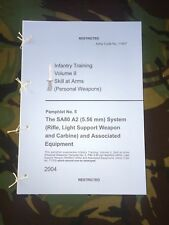 L85A2 SA80A2 H&K BRITISH ARMY TRAINING PAMPHLET IRAQ AFGHANISTAN PARA MARINE