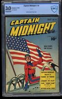 Captain Midnight #10 CBCS GD/VG 3.0 Cream To Off White