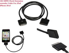 30 PIN Dock Extender Extension AV Data SYNC Cable for iPhone 4G/4S iPod touch BK