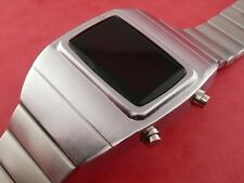 70s 1970s Old Vintage Style LED LCD DIGITAL 2 Rare Retro Mens Watch omeg@ 1603