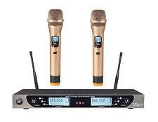 Outdoor Wireless Microphone with Dynamic Lcd Display Dual Channel Handheld Mics