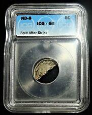 Undated San Francisco Mint 5C Buffalo nickel Split After Strike ICG G6