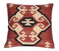 Handmade Kilim Pillow Case Vintage Jute Cushion Cover Throw Indian Jute Cushions