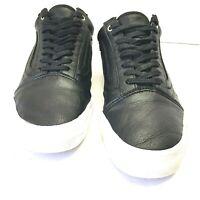 Vans Old Skool Black Leather Shoes 500714 Unisex Size Mens 7, Womens 8.5 Us
