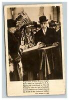 Vintage 1900's RPPC Postcard Chief White Horse Eagle Taken in Canada