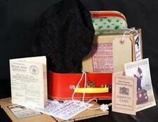 1940s Wartime Memorabilia GIRLS Beret-Gas Mask Box-Suitcase-Ration Book-ID Card