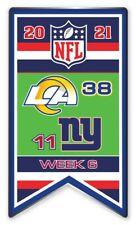 2021 Semaine 6 Bannière Broche NFL Los Angeles L. A. Rams N.y. Neuf York Super