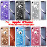 For iPhone 6/7/8 Plus Liquid Glitter Defender Case TPU Bumper Cover