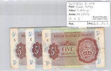 Royaume-Uni Lot de trois 5 Shillings Non daté (1943) Lettre A - E - S