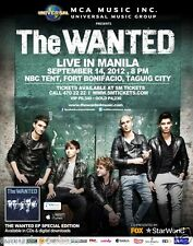 """THE WANTED """"LIVE IN MANILA"""" 2011 PHILIPPINES CONCERT TOUR POSTER-Dance-pop Music"""