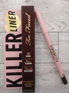 TOO FACED 36hr Killer Espresso Liner Gel Waterproof Eyeliner Pencil FULL SZ BNIB