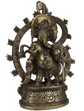 Ganesha Gottheit Figur Statue Bronze Yoga Meditation Ayurveda 12 kg
