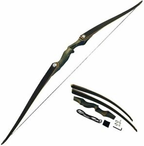 60'' Archery Takedown Longbow 25-60lbs Wooden Bow Riser Right Left Hand Hunting