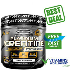 MUSCLETECH PLATINUM 100% CREATINE Powder Micronized Ultra Pure Unflavored 400g