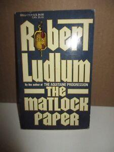 The Matlock Paper by Robert Ludlum (1984, Paperback, Twenty-ninth Dell Printing)