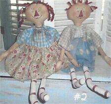 Pattern Raggedy Ann Doll & Raggedy Andy Doll Uncut Oop Raggedy Old Annies Rare