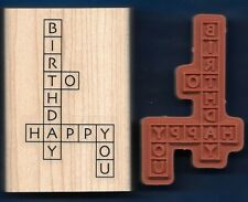 HAPPY BIRTHDAY TO YOU CROSS MY HEART Crossword Puzzle Stampin' Up! Rubber Stamp