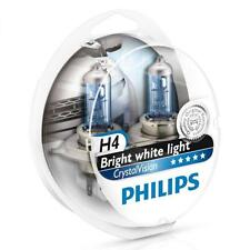 PHILIPS H4 Crystal Vision 4300K Bulbs 12342CVSM with Parking Lights - Genuine