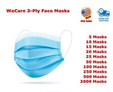 All Package Quantities of 3-Ply Protective Face Masks for Everyday Use - Sealed