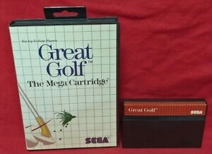 Great Golf  - SEGA SMS Master System Rare Game Works Golfing Tested