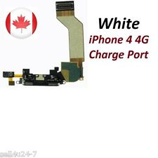White New Iphone 4 4G Charging Port Dock Connector + MIC Flex Ribbon Cable