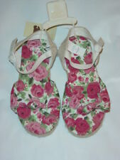 Baby Gap Pink ROSE Print Sandals Shoes Girl Size 10 NWT - Spring Summer