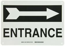 """New listing Brady 25767 Plastic Directional Sign, 10"""" X 14"""", Legend """"Entrance (with Picto)"""""""