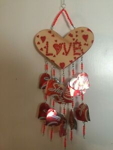 HEART WIND CHIME - ANNIVERSARY  - LOVE - VALENTINE'S DAY - SWEETHEART