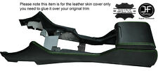 GREEN STITCHING CENTRE CONSOLE & ARMREST LEATHER COVERS FITS BMW E39 1996-2003