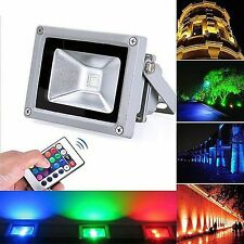 10W RGB Outdoor LED Flood Light Garden Spotlight Security Waterproof Lamp Remote